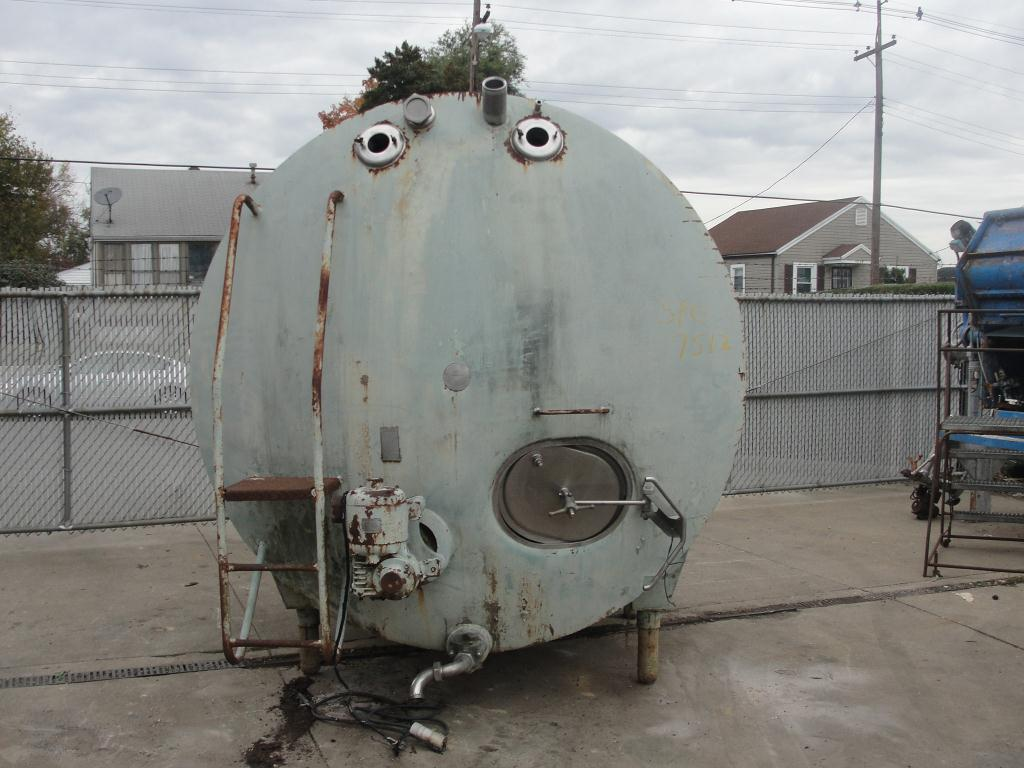Tank 1700 gallon horizontal tank, Stainless Steel Contact Parts2