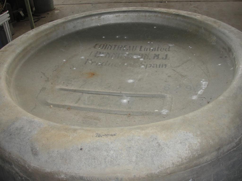 Tank 225 gallon Giovanola Monthey-Suisse liquid tote, Aluminum2