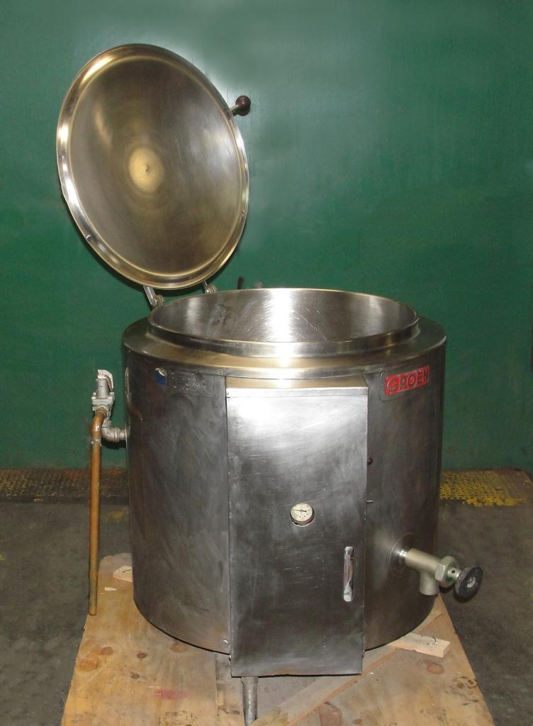 Kettle 40 gallon Groen hemispherical bottom kettle, 30 PSI psi jacket rating, Stainless Steel1