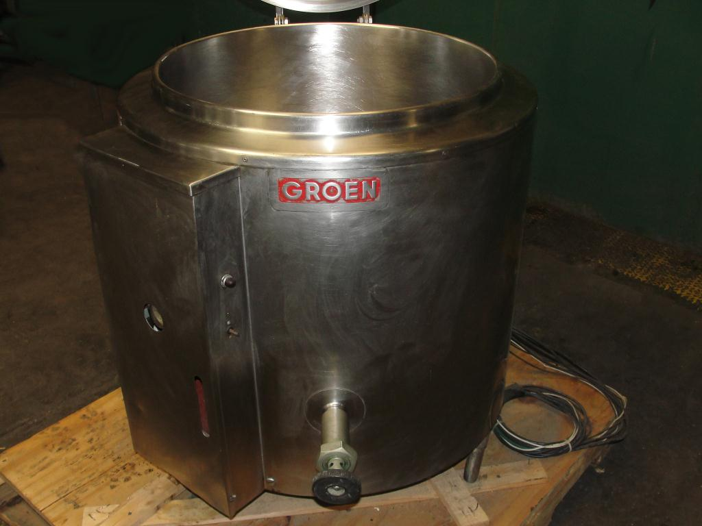 Kettle 40 gallon Groen hemispherical bottom kettle, 30 PSI psi jacket rating, Stainless Steel2