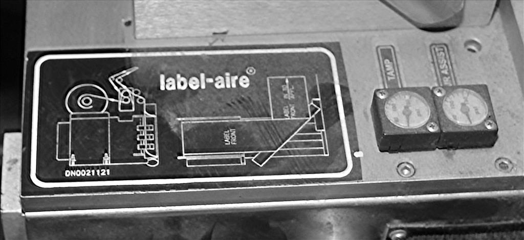 Labeler Label-aire pressure sensitive labeler model 5515 LH LBLR W/FAN FLC, wipe on7