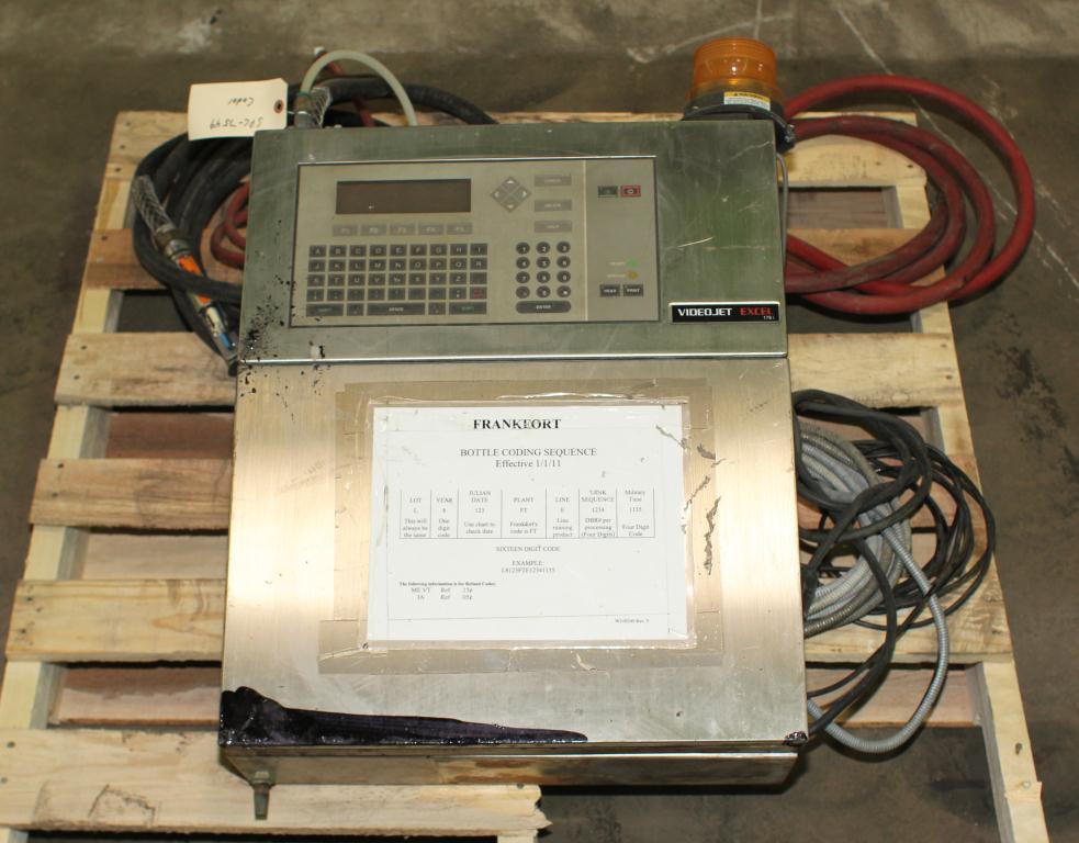 Coder Videojet ink-jet coder model Excel 178i, No cylinder cover on print heads, 916 ft/min1