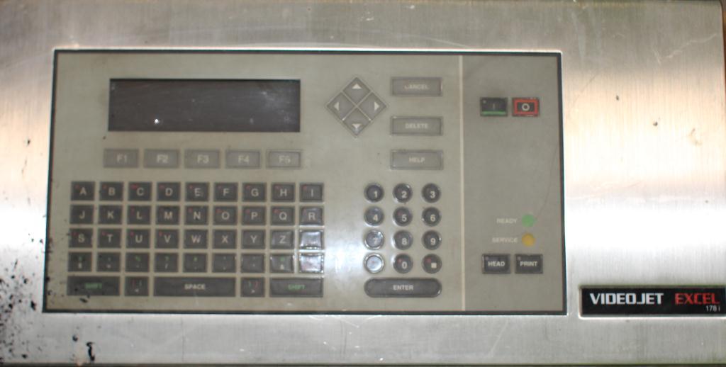 Coder Videojet ink-jet coder model Excel 178i, No cylinder cover on print heads, 916 ft/min5