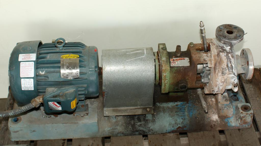 Pump 12 x  43 x  15 GOULDS centrifugal pump, 5 hp, Stainless Steel3