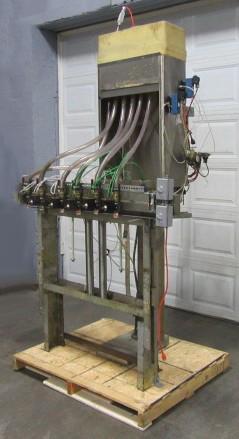 Filler 6 valve ELF liquid gravity filler adjustable from 3.5 to 9 centers1