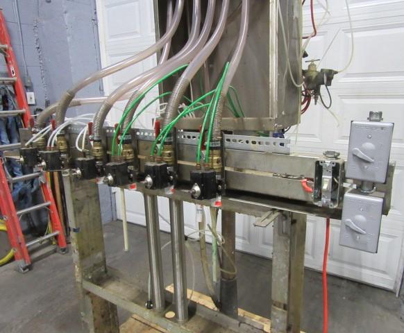 Filler 6 valve ELF liquid gravity filler adjustable from 3.5 to 9 centers2