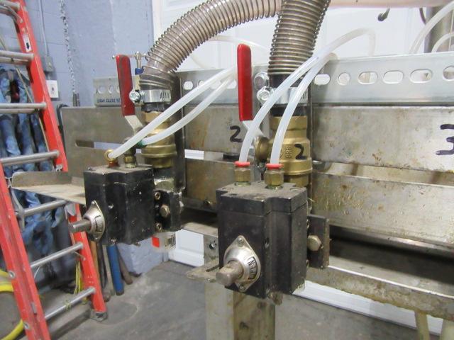 Filler 6 valve ELF liquid gravity filler adjustable from 3.5 to 9 centers3