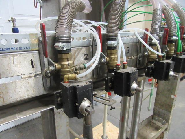 Filler 6 valve ELF liquid gravity filler adjustable from 3.5 to 9 centers4
