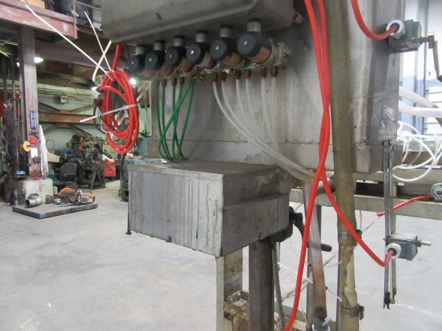 Filler 6 valve ELF liquid gravity filler adjustable from 3.5 to 9 centers8