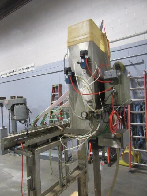 Filler 6 valve ELF liquid gravity filler adjustable from 3.5 to 9 centers9