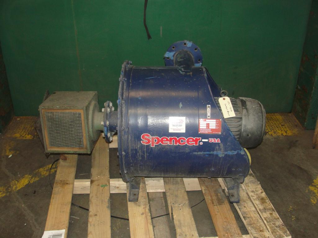 Blower 135 cfm multistage centrifugal blower, Spencer, 7.5 hp1