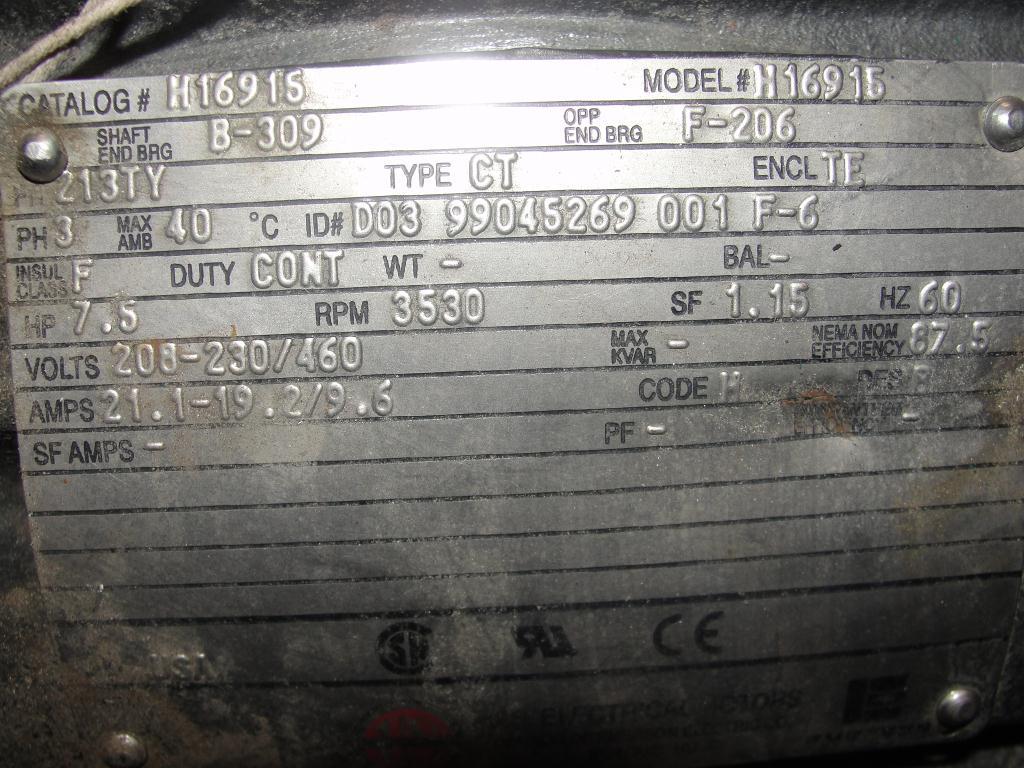 Blower 135 cfm multistage centrifugal blower, Spencer, 7.5 hp5