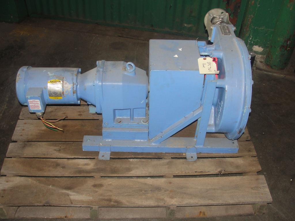 Pump 1 inlet Bredel Delden Holland positive displacement pump model Type SP-32, 1-1/2 hp1