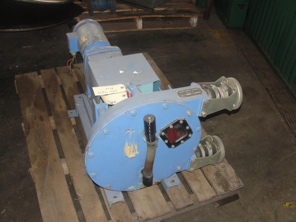 Pump 1 inlet Bredel Delden Holland positive displacement pump model Type SP-32, 1-1/2 hp3