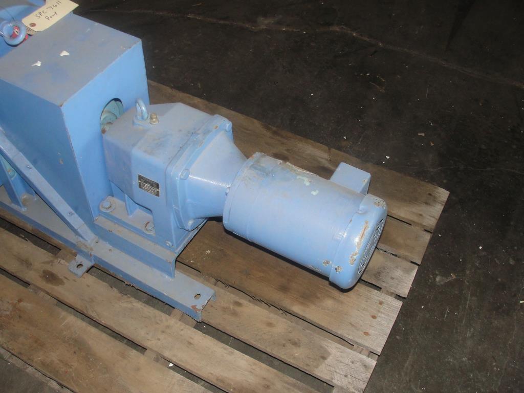 Pump 1 inlet Bredel Delden Holland positive displacement pump model Type SP-32, 1-1/2 hp4
