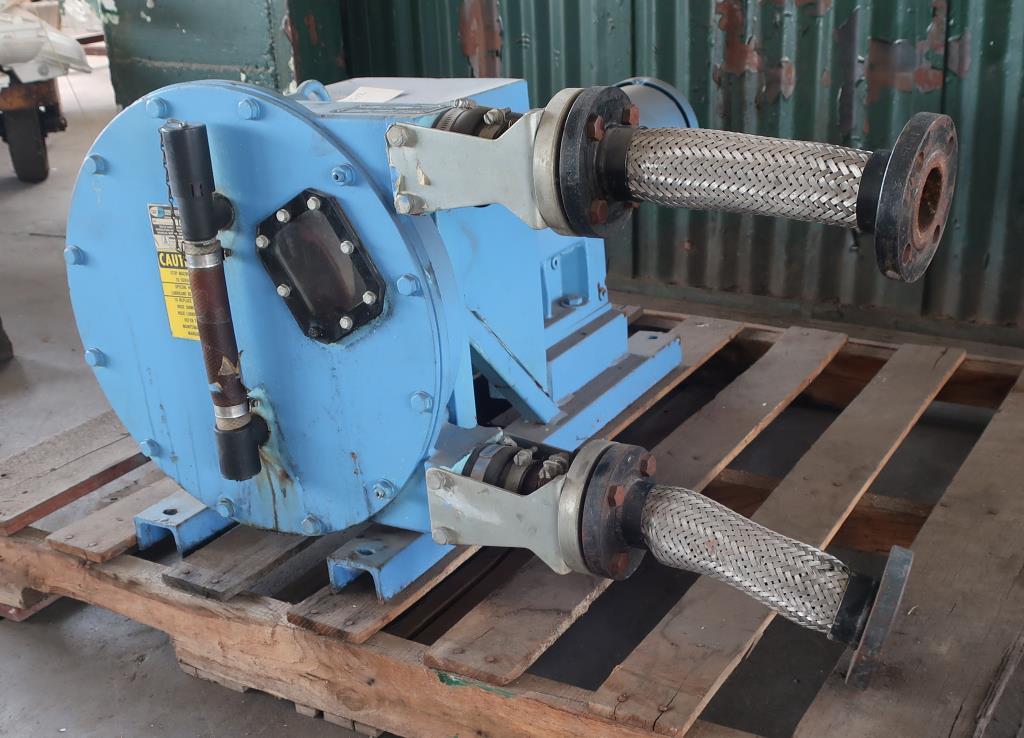 Pump 1 inlet Bredel Delden Holland positive displacement pump model Type SP 32, 1-1/2 hp, CS2