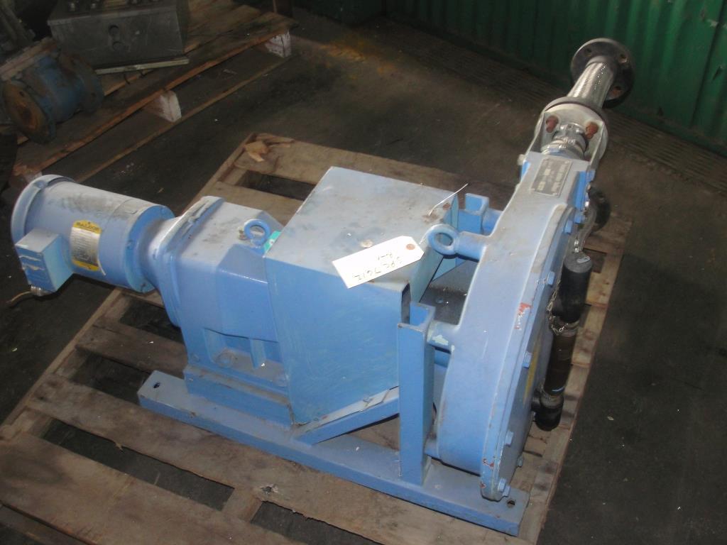 Pump 1 inlet Bredel Delden Holland positive displacement pump model Type SP 32, 1-1/2 hp, CS3