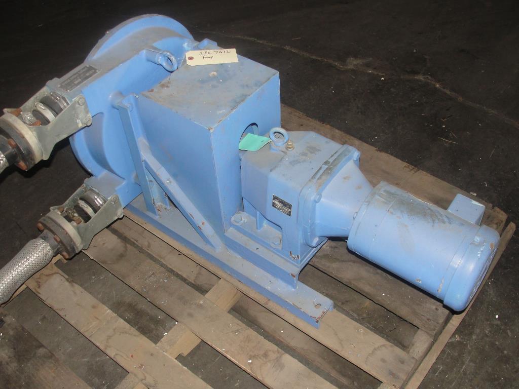 Pump 1 inlet Bredel Delden Holland positive displacement pump model Type SP 32, 1-1/2 hp, CS4