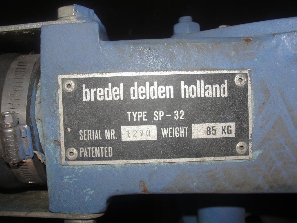 Pump 1 inlet Bredel Delden Holland positive displacement pump model Type SP 32, 1-1/2 hp, CS6