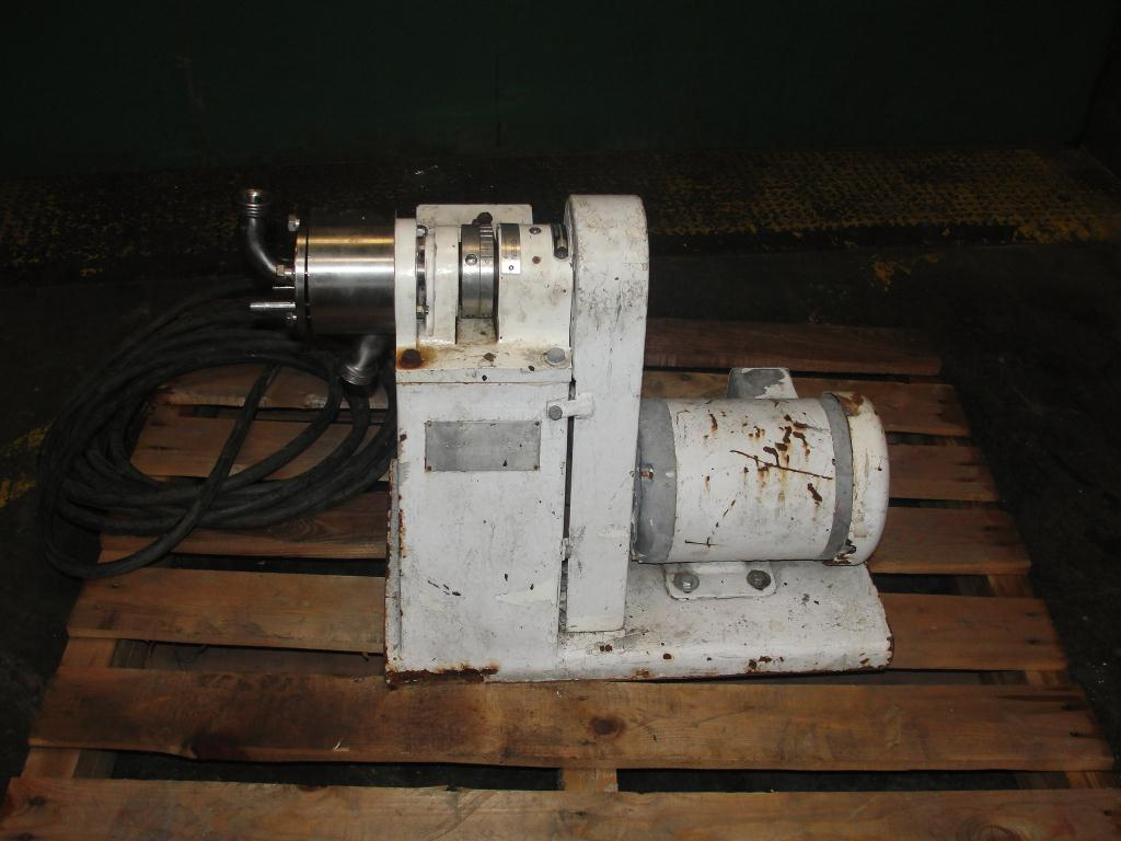 Mill 1.5 hp Sonic colloid mill model 2 1/2 LA, Stainless Steel Contact Parts1