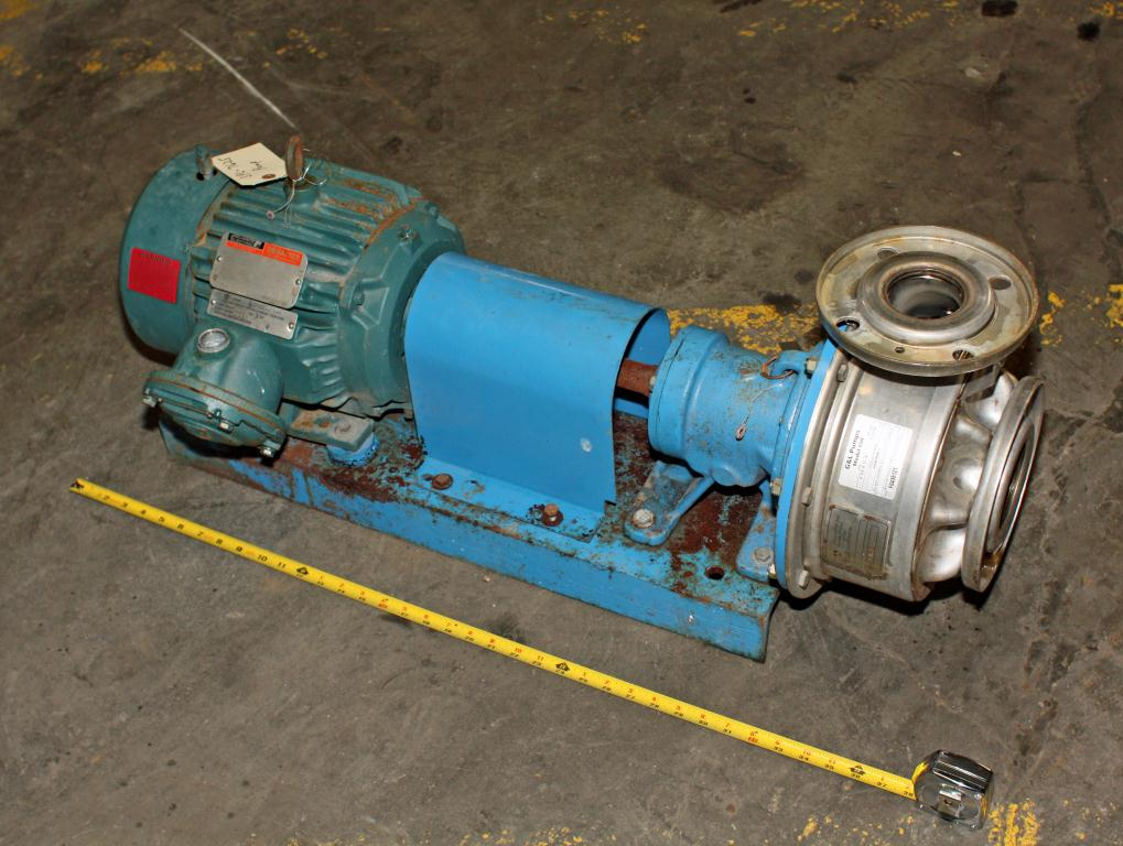 Pump 2 1/2 x3x6 Gould Pumps centrifugal pump, 3 hp, Stainless Steel1