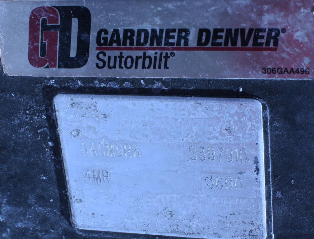 Blower 347 cfm, positive displacement blower Gardner Denver, 15 hp7