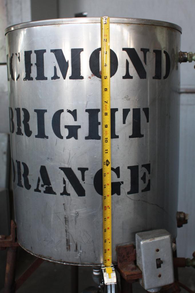 Tank 20 gallon vertical tank, Stainless Steel, flat Bottom3