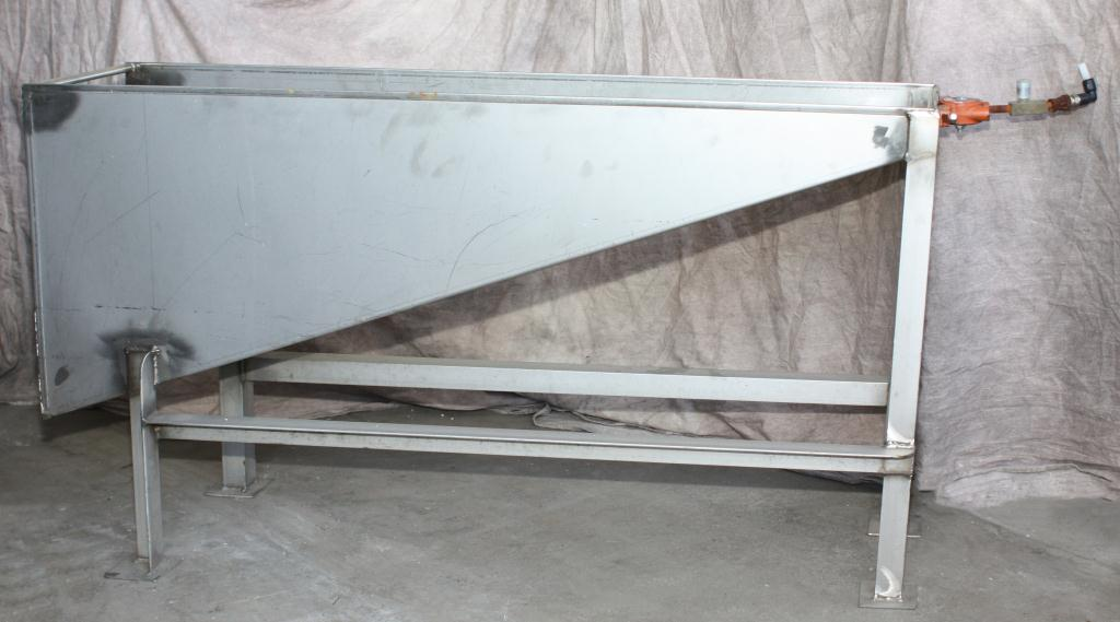 Miscellaneous Equipment feed chute, 14 x 45 x 26, Stainless Steel2