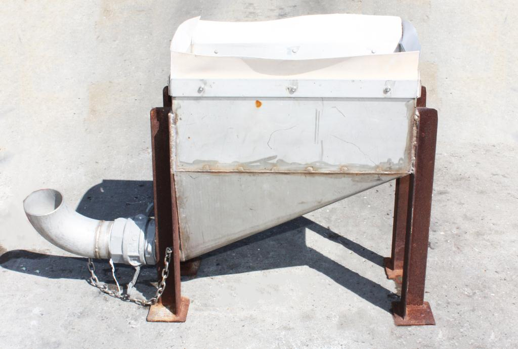 Miscellaneous Equipment feed chute, 12W x 24L x 12D, Stainless Steel2