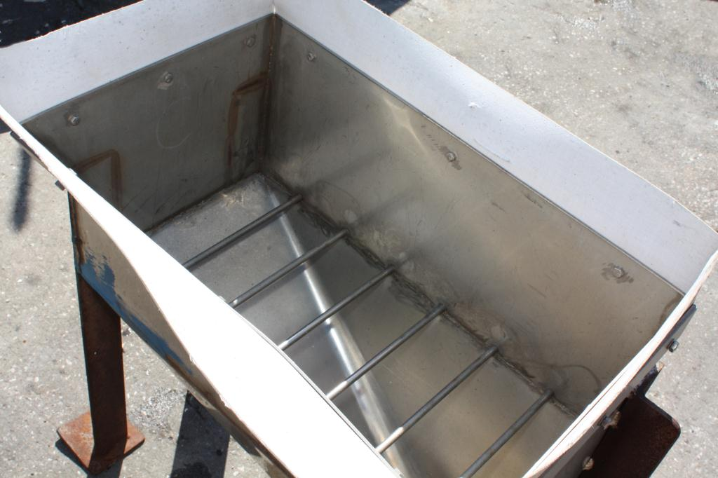 Miscellaneous Equipment feed chute, 12W x 24L x 12D, Stainless Steel3