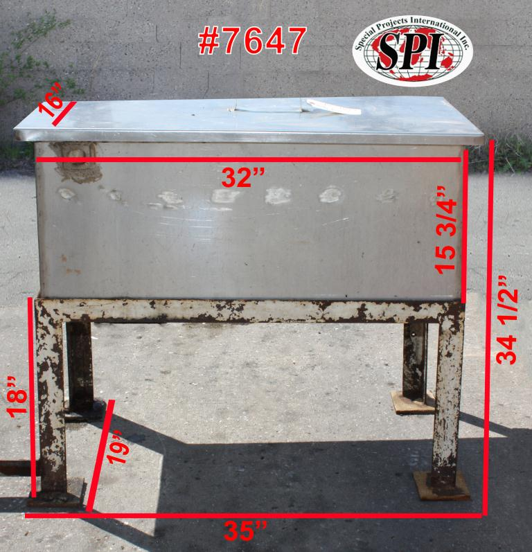Miscellaneous Equipment bottle dump station Stainless Steel 28 each 1-3/8 diameter holes, 16W x 32L x 15 3/4D1