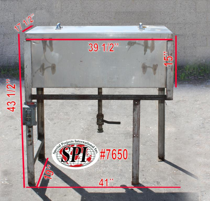 Miscellaneous Equipment bottle dump station Stainless Steel 39 each 1-1/4 diameter holes holes,  17 1/2W x 39 1/2L x 15D1