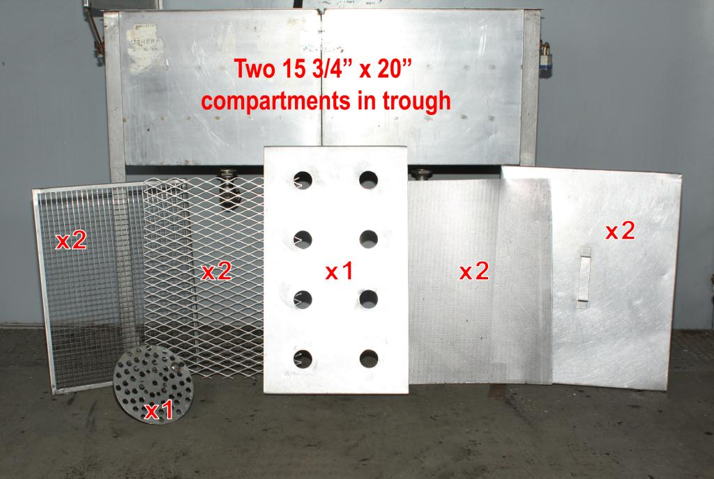 Miscellaneous Equipment bottle dump station Stainless Steel 14 each 1-5/8 diameter holes holes, 17W x 41-½L x 36-1/2H3
