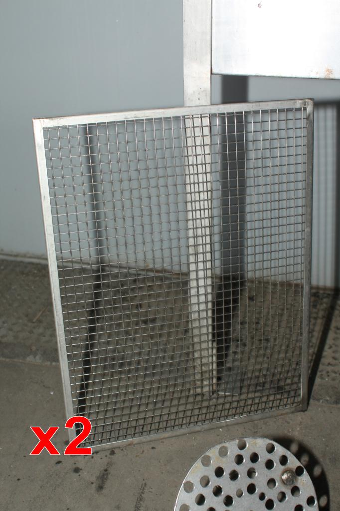 Miscellaneous Equipment bottle dump station Stainless Steel 14 each 1-5/8 diameter holes holes, 17W x 41-½L x 36-1/2H5