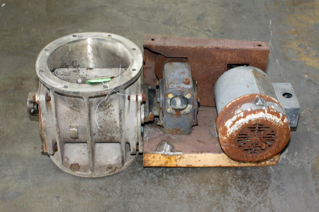 Valve 8-5/8 round Stainless Steel Hosokawa rotary airlock feeder model Micron1
