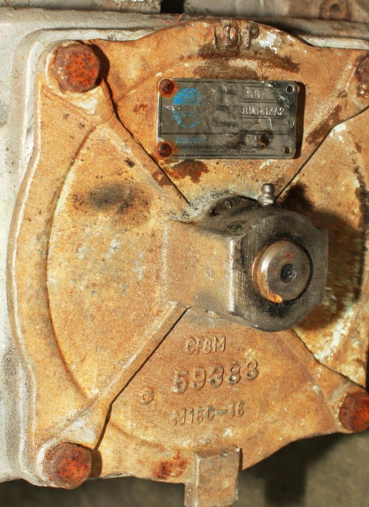 Valve 8-5/8 round Stainless Steel Hosokawa rotary airlock feeder model Micron4