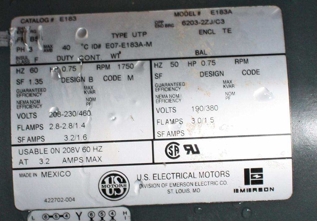 Valve 8 CS Fluidizer rotary airlock feeder model 5X20C510-64