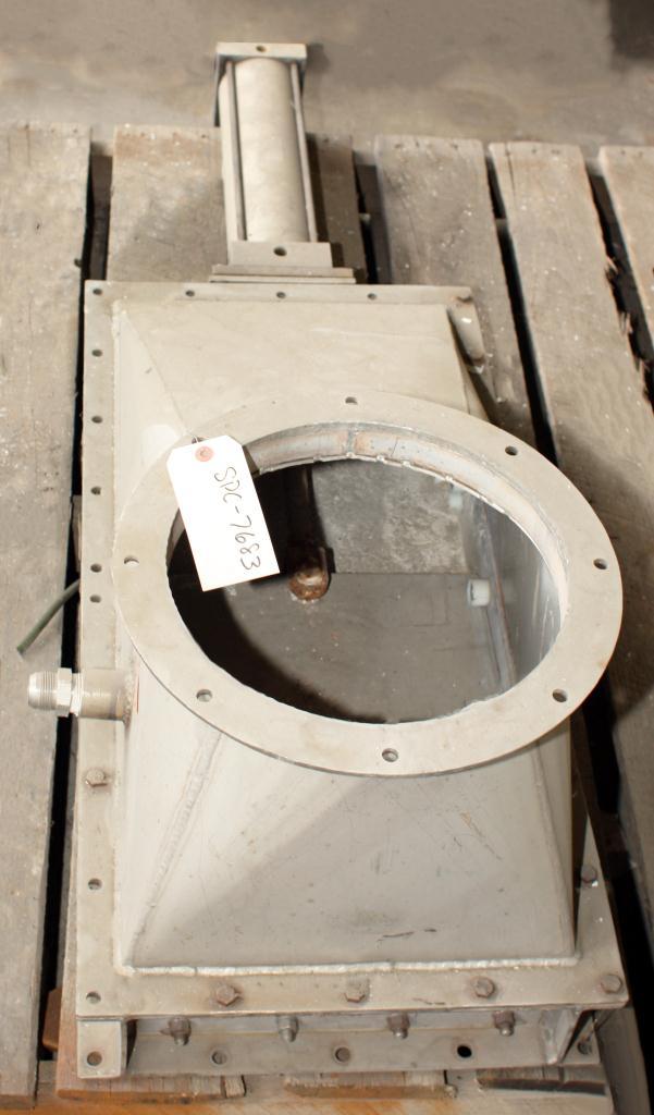 Valve 12 diameter DCL gate valve, pneumatic, Stainless Steel2