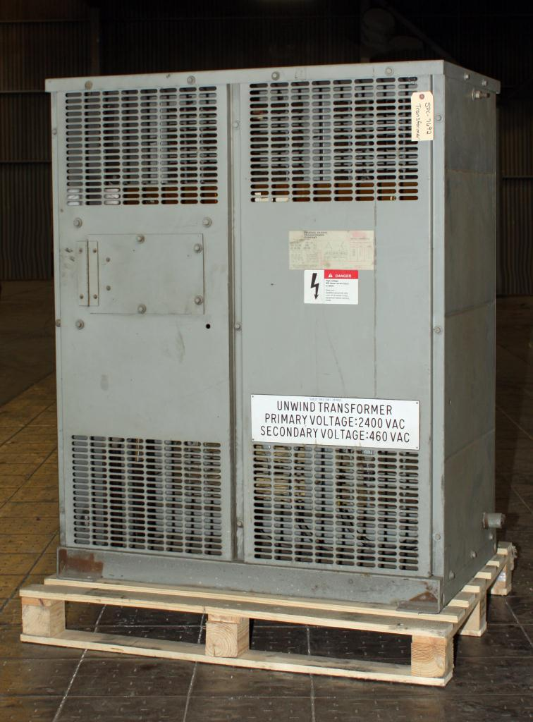 Transformers and Switchgear 118 kva Federal Pacific Transformer Company dry transformer, 2400 high voltage, 460 Y/ 266 low voltage, 3 phase1