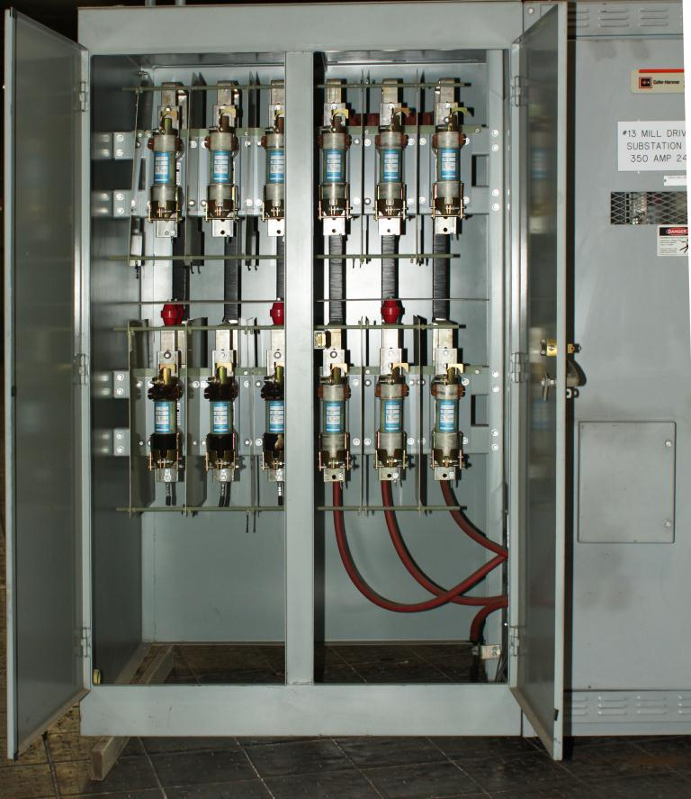 Transformers and Switchgear Culter-Hammer & Westinghouse switchgear model WLI  Load Interrupter Metal Enclosed Switchgear 2400 volts, 350 amps3