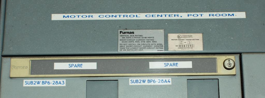 Transformers and Switchgear Furnas  Siemens Energy & Automation motor control center model Furnas System 89 3 ph18