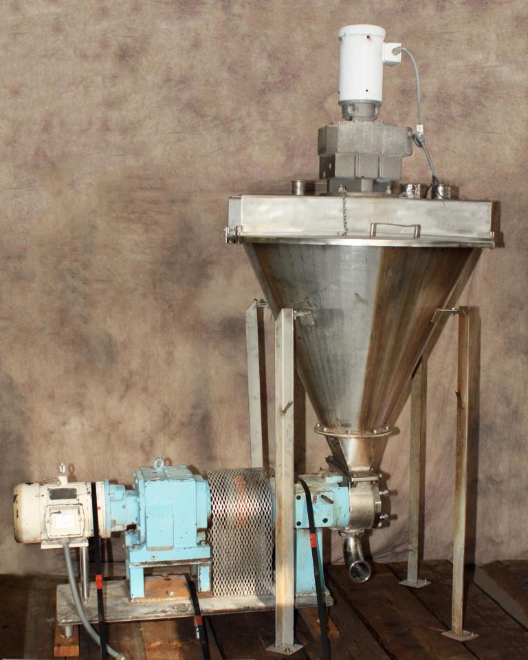Pump 9 x 3.5 rectangle inlet Waukesha Cherry-Burrell positive displacement pump model 134 UL, 5 hp, Stainless Steel2