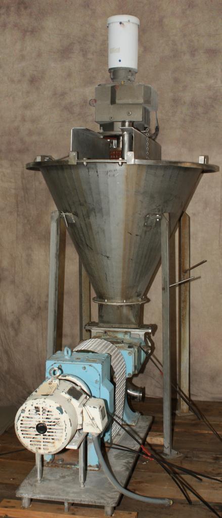 Pump 9 x 3.5 rectangle inlet Waukesha Cherry-Burrell positive displacement pump model 134 UL, 5 hp, Stainless Steel4