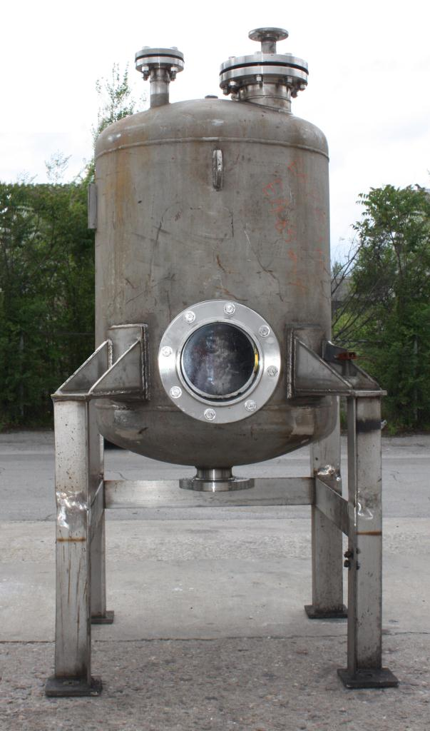 Tank 110 gallon vertical tank, Stainless Steel, dish bottom1