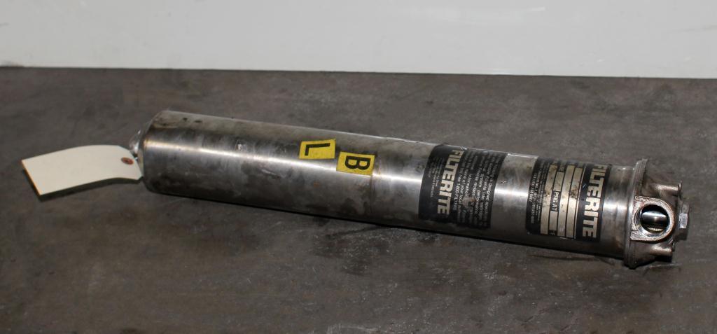 Filtration Equipment 1 NPT Filterite Corp. cartridge filter model 910067, Stainless Steel2