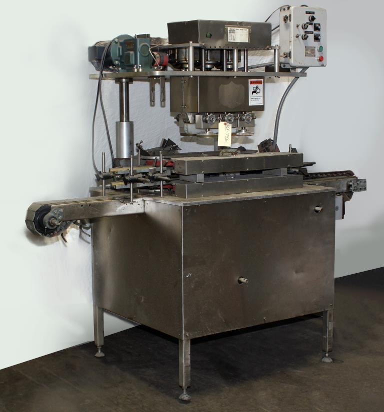 Capping Machine Ron Unger Engineering retorquer cap tightener model 34001