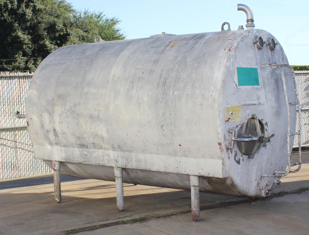 Tank 2200 gallon horizontal tank, Stainless Steel, Low Pressure jacket1