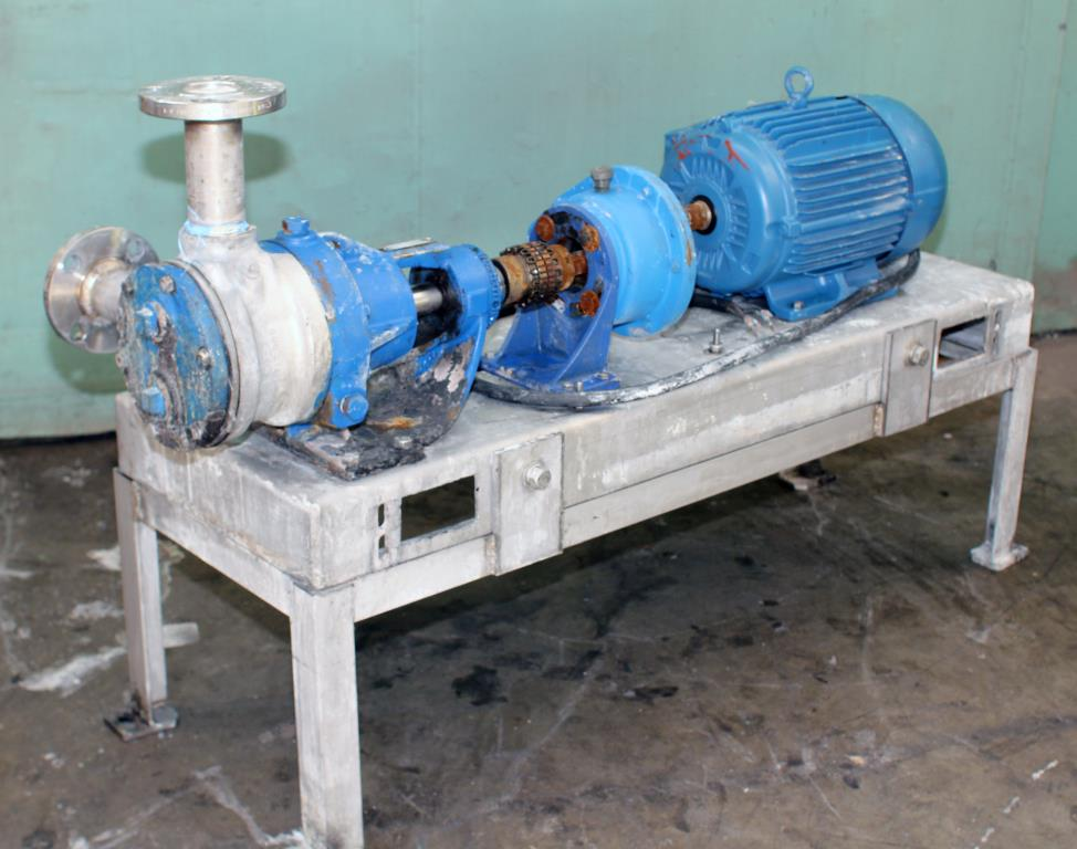 Pump 2 inlet Viking Pumps Inc. positive displacement pump model KK4724, 5 hp, Stainless Steel1