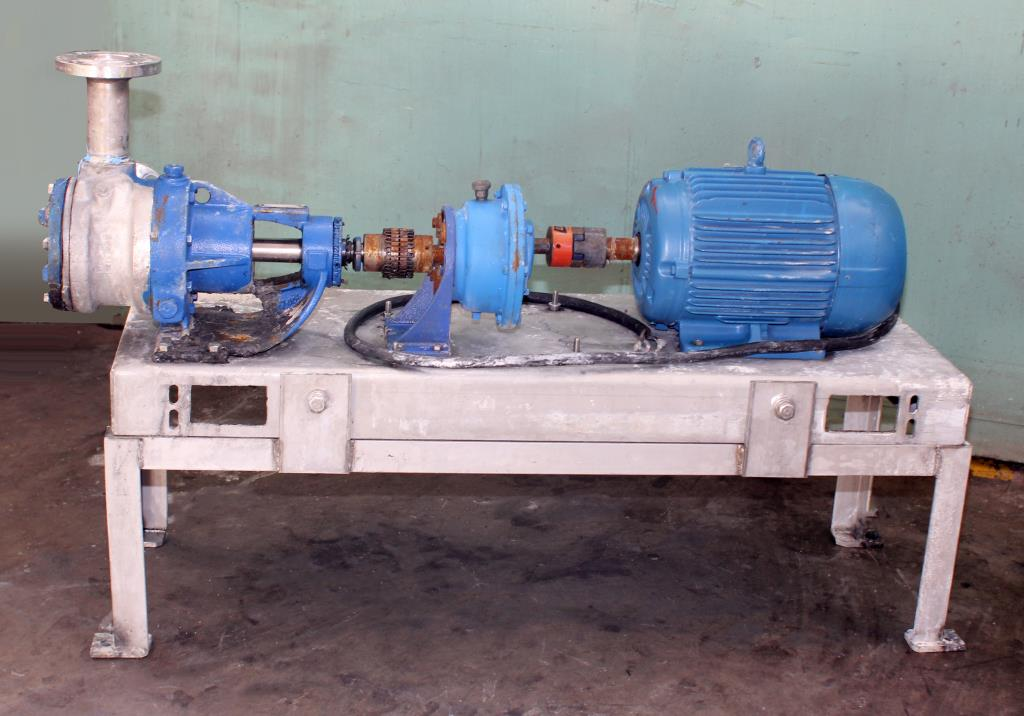 Pump 2 inlet Viking Pumps Inc. positive displacement pump model KK4724, 5 hp, Stainless Steel2
