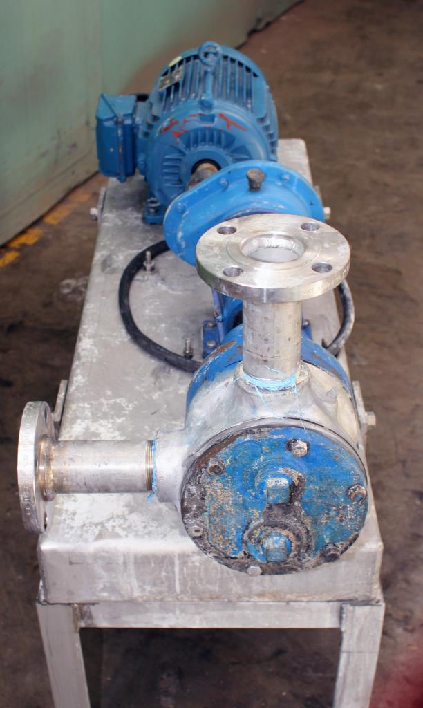 Pump 2 inlet Viking Pumps Inc. positive displacement pump model KK4724, 5 hp, Stainless Steel3